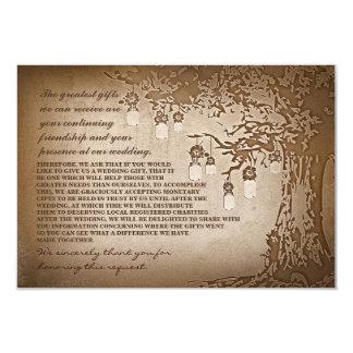 mason jars tree wedding donation cards