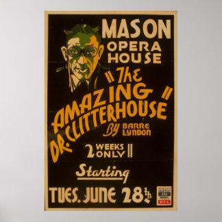 Mason Opera House Theatre Vintage WPA Poster