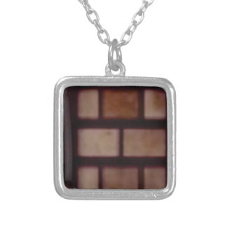 mason texture silver plated necklace