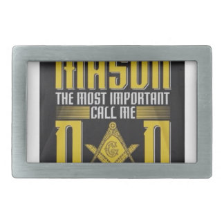 masondad rectangular belt buckle