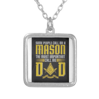 masondad silver plated necklace