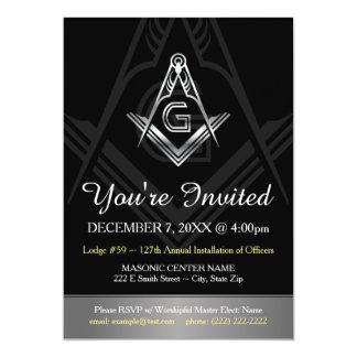 Masonic Annual Installation of Officers Invitation