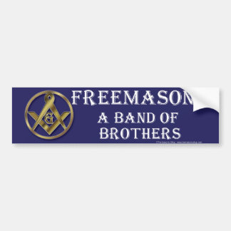 Masonic Band of Brothers Bumper Sticker