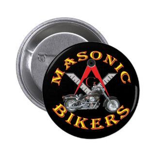 Masonic Bikers 6 Cm Round Badge