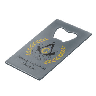 Masonic bottle opener card