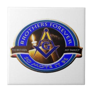 Masonic Brothers Ceramic Tile