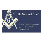 Masonic Business Card Business Cards