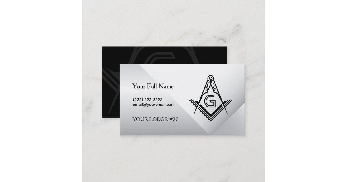 Masonic Card Business Card Templates | Freemason | Zazzle.com.au