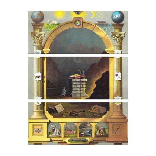 Masonic Chart 2 Canvas Print