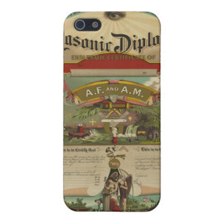 Masonic Diploma Freemason Freemasonry 1891 iPhone 5/5S Case