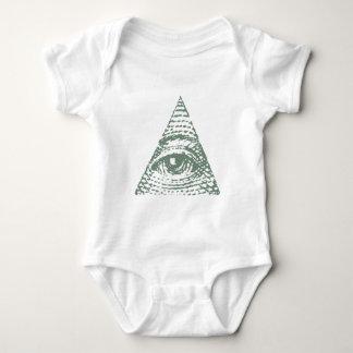 Masonic eye baby bodysuit