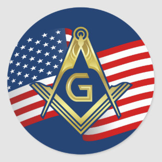 Masonic Flag Stickers | Freemason Square & Compass