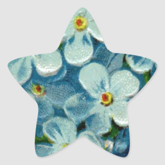 Masonic Freemason Forget-Me-Nots Star Sticker
