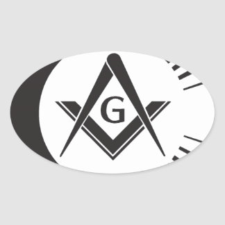 Masonic ,Freemason,Masons Oval Sticker