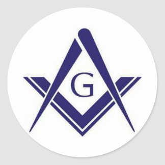 "Masonic ""G"" Products Classic Round Sticker"