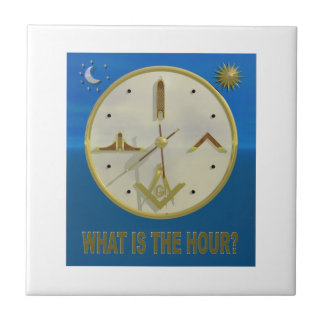 Masonic Hour Ceramic Tile