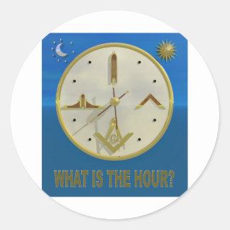Masonic Hour Classic Round Sticker