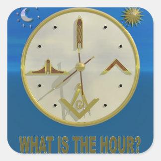 Masonic Hour Square Sticker