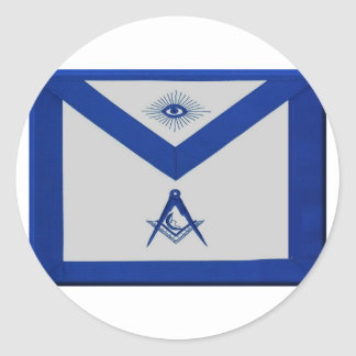 Masonic Junior Deacon Apron Classic Round Sticker