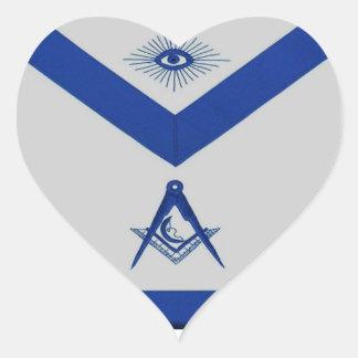 Masonic Junior Deacon Apron Heart Sticker