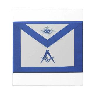 Masonic Junior Deacon Apron Notepad