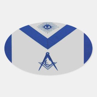 Masonic Junior Deacon Apron Oval Sticker