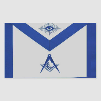 Masonic Junior Deacon Apron Rectangular Sticker
