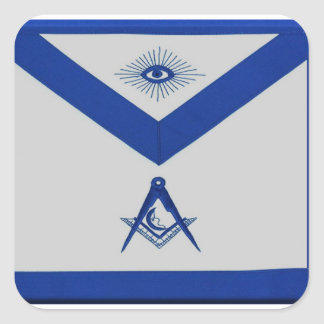 Masonic Junior Deacon Apron Square Sticker