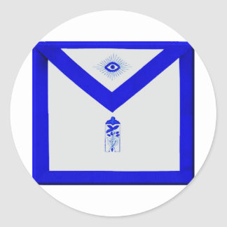 Masonic Junior Warden Apron Classic Round Sticker