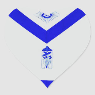 Masonic Junior Warden Apron Heart Sticker
