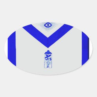 Masonic Junior Warden Apron Oval Sticker