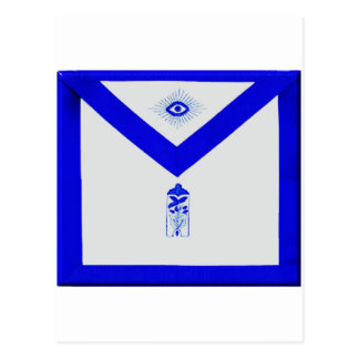 Masonic Junior Warden Apron Postcard