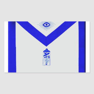 Masonic Junior Warden Apron Rectangular Sticker