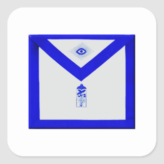 Masonic Junior Warden Apron Square Sticker
