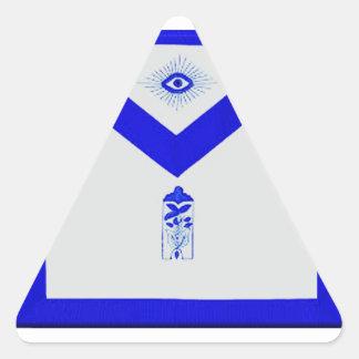 Masonic Junior Warden Apron Triangle Sticker