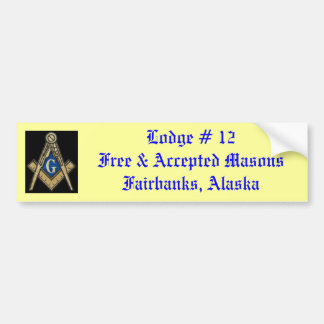 Masonic Lodge Bumper Sticker