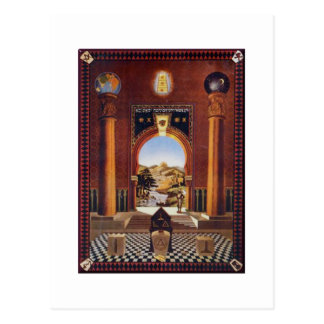 Masonic Lodge Postcard