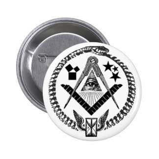 Masonic Memorabilia 6 Cm Round Badge