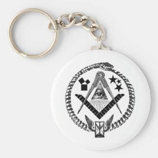 Masonic Memorabilia Basic Round Button Key Ring