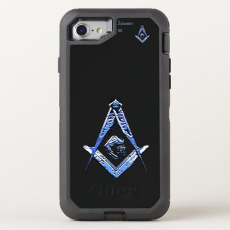 Masonic Minds (Blue) OtterBox Defender iPhone 8/7 Case