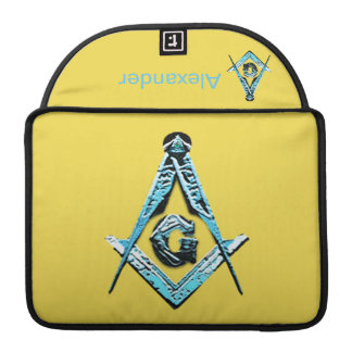 Masonic Minds (Bright Blue) Sleeve For MacBooks
