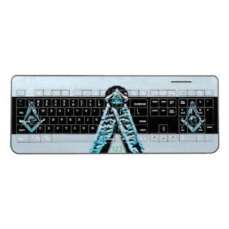 Masonic Minds (Bright Blue) Wireless Keyboard