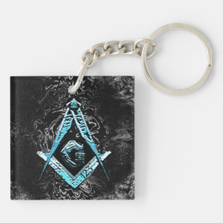 Masonic Minds (BrightBlueSwish) Key Ring