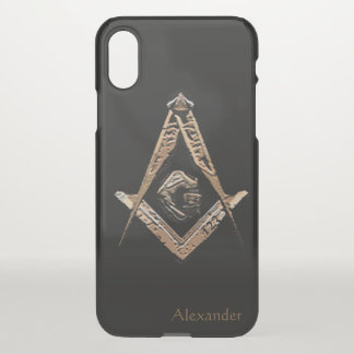 Masonic Minds (Golden) iPhone X Case