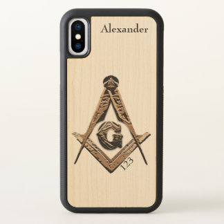 Masonic Minds (Golden) iPhone X Case