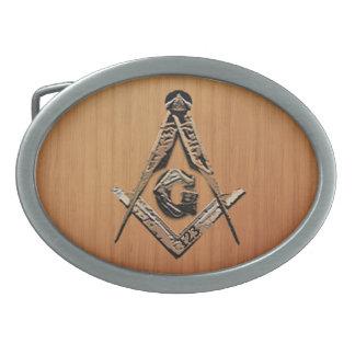 Masonic Minds (Golden) Oval Belt Buckles