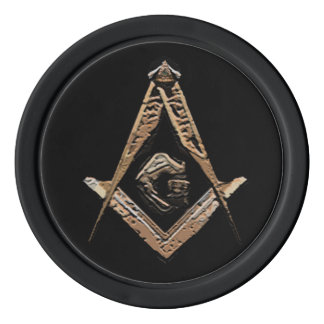 Masonic Minds (Golden) Poker Chips