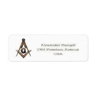 Masonic Minds (Golden) Return Address Label