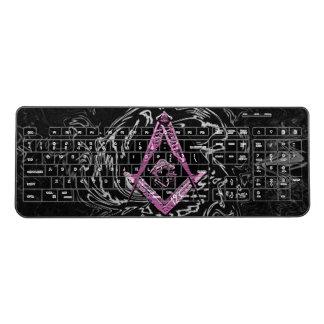 Masonic Minds (PinkSwish) Wireless Keyboard