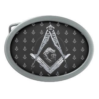 Masonic Minds (Silvery) Oval Belt Buckles